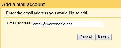 Gmail Add external account