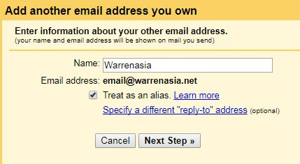 Gmail send as another user