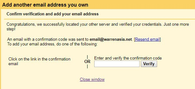 Confirm verification and add your email address