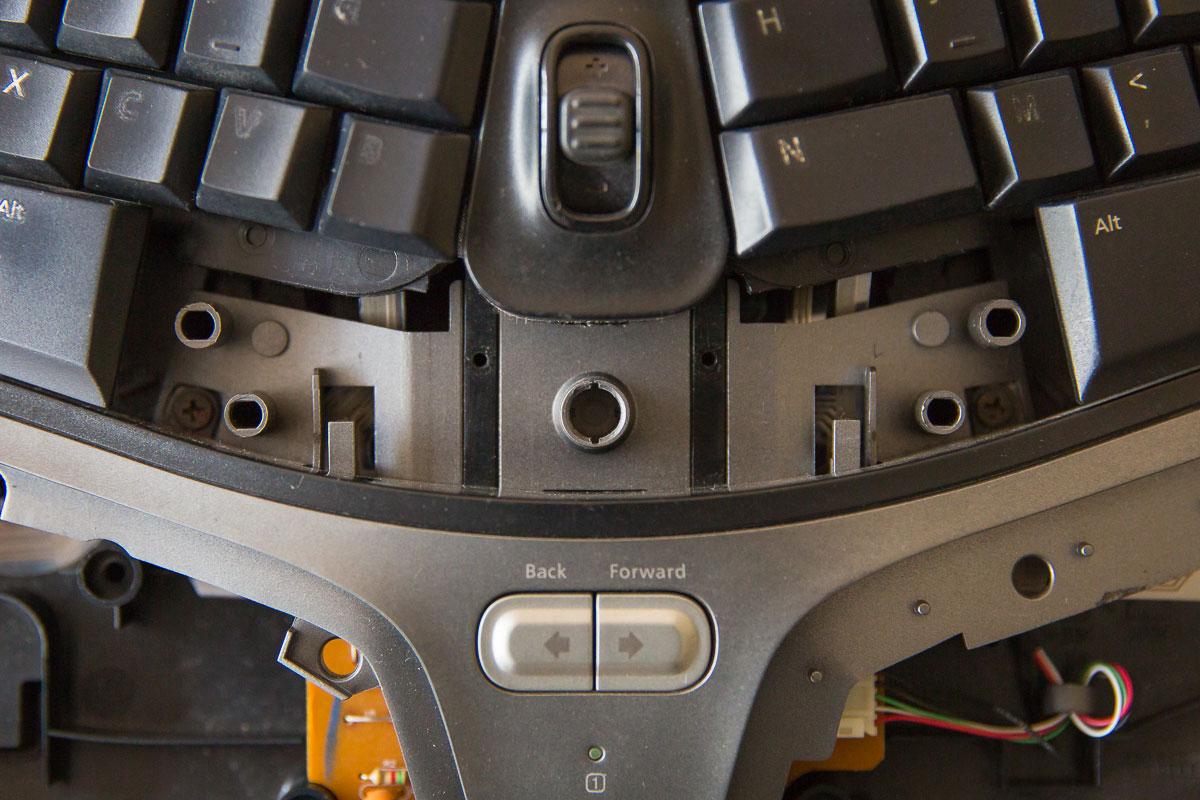 Microsoft Natural Ergonomic Keyboard  Remove Palm Lift